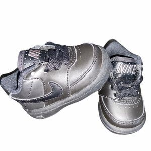 Nike Air Force 1 Low Baby Boys Black Size 2C